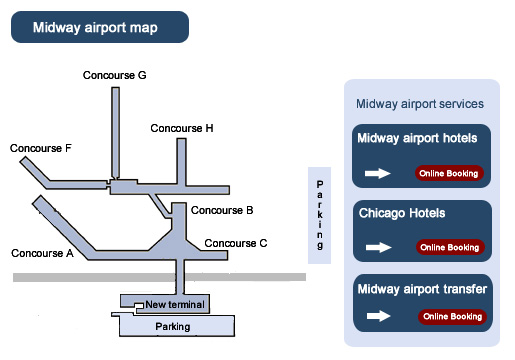 Midway Airport Map  Wwwimgarcade  Online Image Arcade